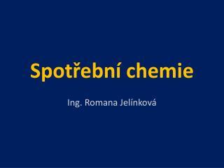 Spotřební chemie