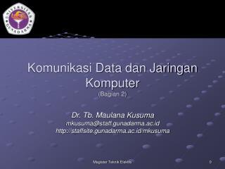 Komunikasi Data dan Jaringan Komputer (Bagian 2)