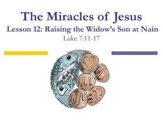 The Miracles of Jesus Lesson 12: Raising the Widow's Son at Nain Luke 7:11-17