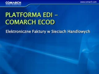 Elektroniczne Faktury w Sieciach Handlowych