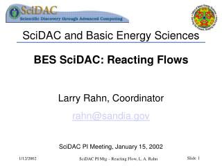 SciDAC and Basic Energy Sciences