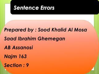 Sentence Errors