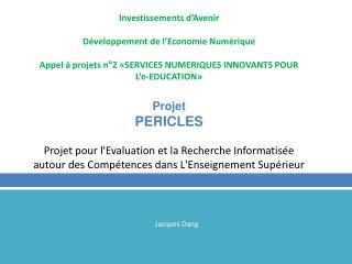 Investissements d'Avenir Développement de l'Economie Numérique