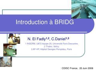 Introduction � BRIDG