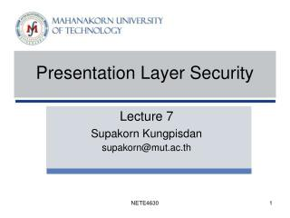 Presentation Layer Security