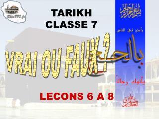 TARIKH CLASSE 7