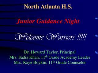 North Atlanta H.S. Junior Guidance Night