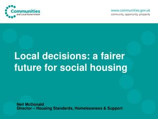 Local decisions: a fairer future for social housing