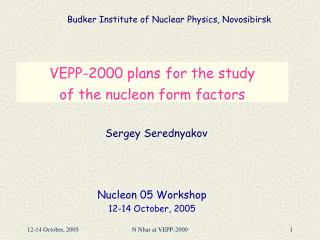 VEPP-2000 plans for the study  of the nucleon form factors