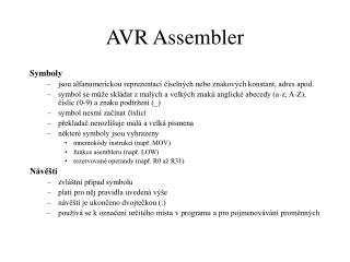 AVR Assembler