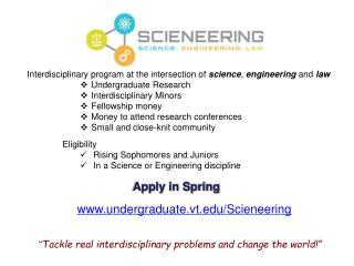undergraduate.vt/Scieneering