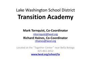 Lake Washington School District Transition Academy