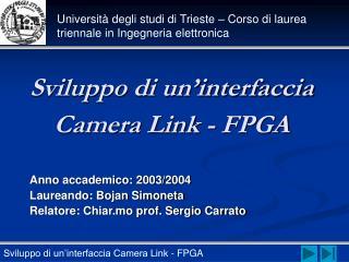 Sviluppo di un'interfaccia Camera Link - FPGA