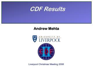 CDF Results