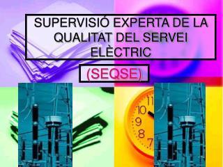 SUPERVISI� EXPERTA DE LA QUALITAT DEL SERVEI EL�CTRIC