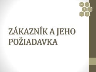 ZÁKAZNÍK A JEHO POŽIADAVKA
