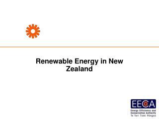 Renewable Energy in New Zealand