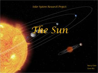 Solar System Research Project: The Sun