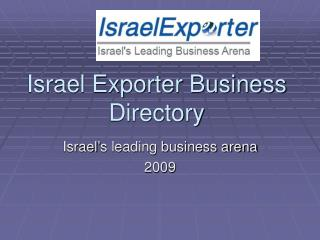Israel Exporter Business Directory