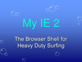 My IE 2