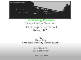 for EdTech 501 Dr. B. Schroeder  Nov. 17, 2009