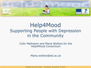 Help4Mood Supporting People with Depression in the Community