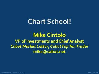 Chart School!