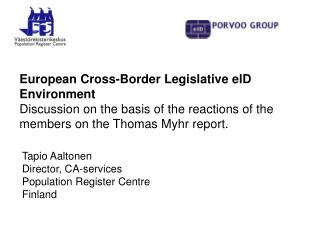 European Cross-Border Legislative elD Environment