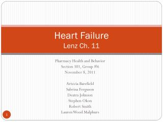 Heart Failure Lenz Ch. 11