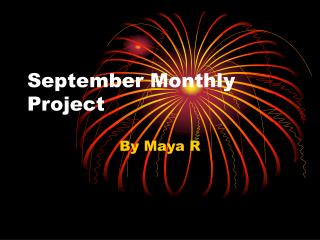 September Monthly Project