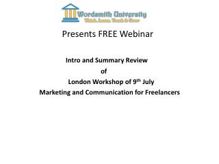 Presents FREE Webinar