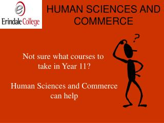 HUMAN SCIENCES AND COMMERCE