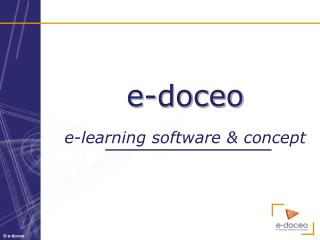e-doceo e- learning  software & concept