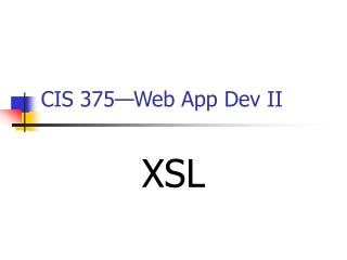 CIS 375—Web App Dev II