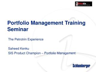 Portfolio Management Training Seminar