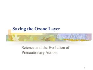 Saving the Ozone Layer