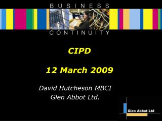 CIPD 12 March 2009