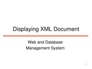 Displaying XML Document