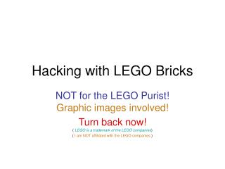 Hacking with LEGO Bricks