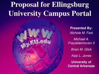 Proposal for Ellingsburg University Campus Portal