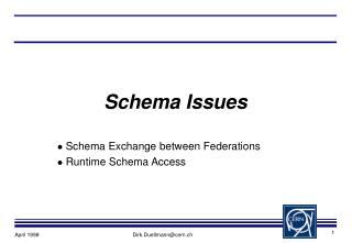 Schema Issues