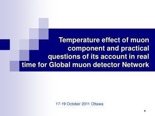 1 7- 1 9  October  2011  Ottawa