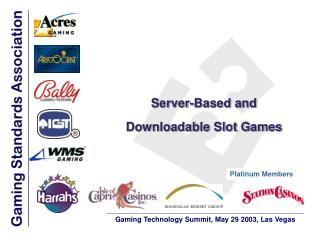 Server-Based and Downloadable Slot Games