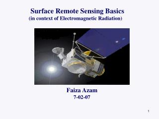 Surface Remote Sensing Basics      (in context of Electromagnetic Radiation)