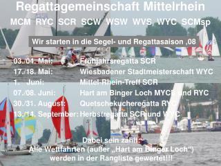 Regattagemeinschaft Mittelrhein MCM  RYC  SCR  SCW  WSW  WVS  WYC  SCMsp