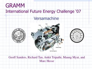 GRAMM International Future Energy Challenge �07