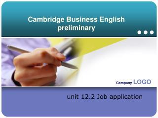 Cambridge Business English preliminary