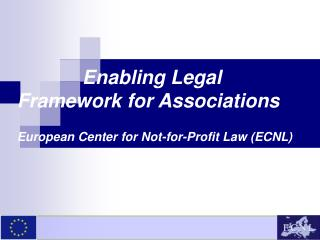 European Center for Not-for-Profit Law (ECNL)