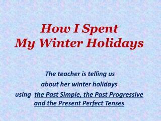 How I Spent  My Winter Holidays