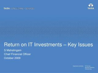 Return on IT Investments   Key Issues
